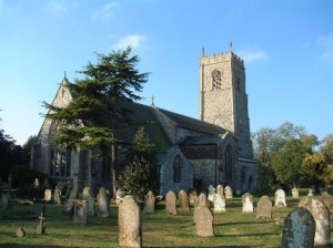 The churchyard on the North side of the church